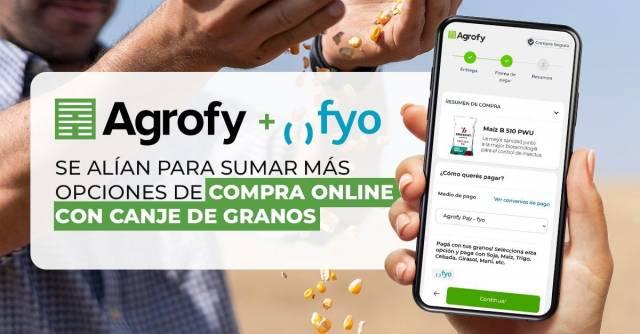 Agrofy se alía con fyo para sumar más opciones de compra online con canje